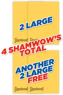 2 Large ShamWow's and Another 2 Large ShamWow's FREE. 4 Large ShamWow's Total